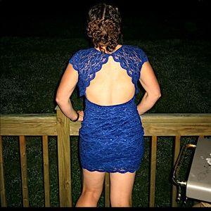 Alejandra Sky backless lace dress